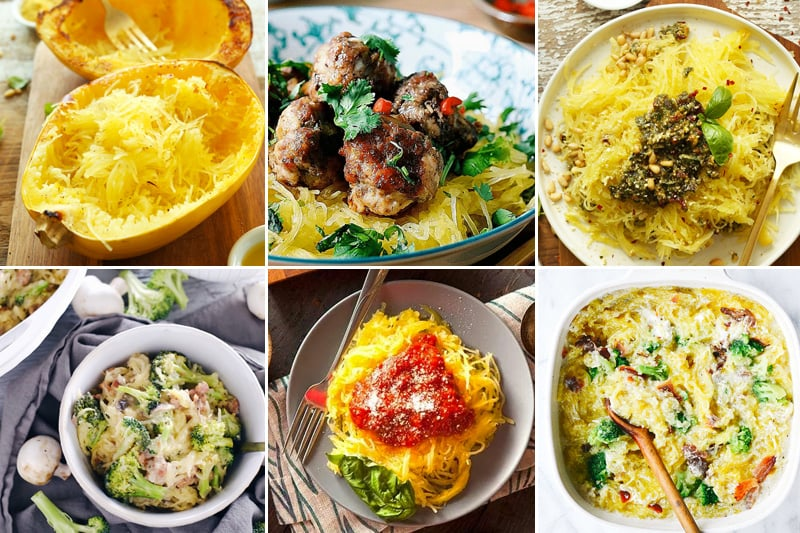 Spaghetti Squash Noodles Pasta Recipes