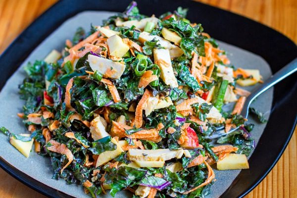 Kale Chicken & Apple Salad (Paleo, Whole30)