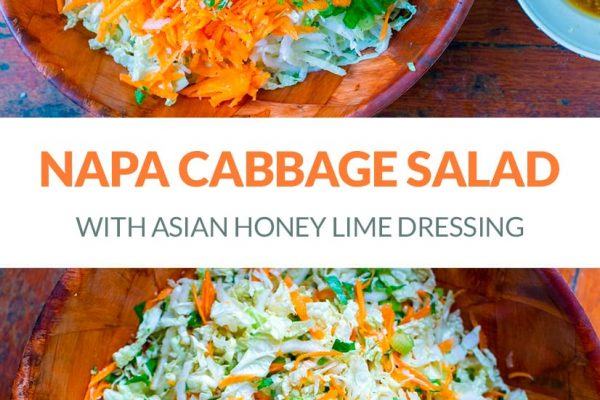 Napa Cabbage Salad With Honey, Lime & Ginger Dressing