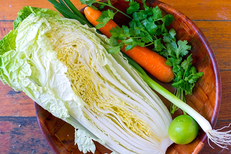 Wombok Chinese Cabbage Salad Ingredients