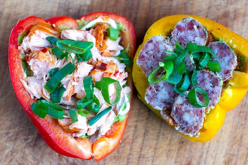 Open Style Bell Pepper Sandwich (Two Ways)