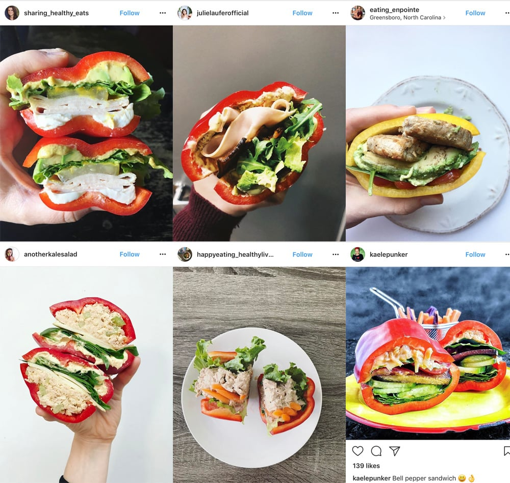 Bells Pepper Sandwiches Of Instagram