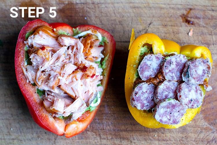 Bell pepper sandwich - step 5