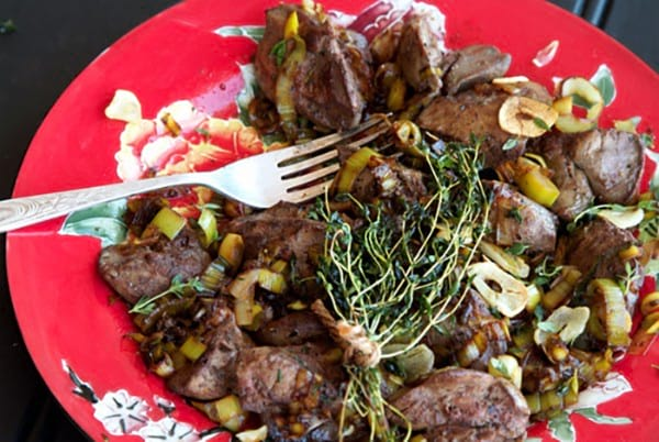 paleo liver with garlic and thyme