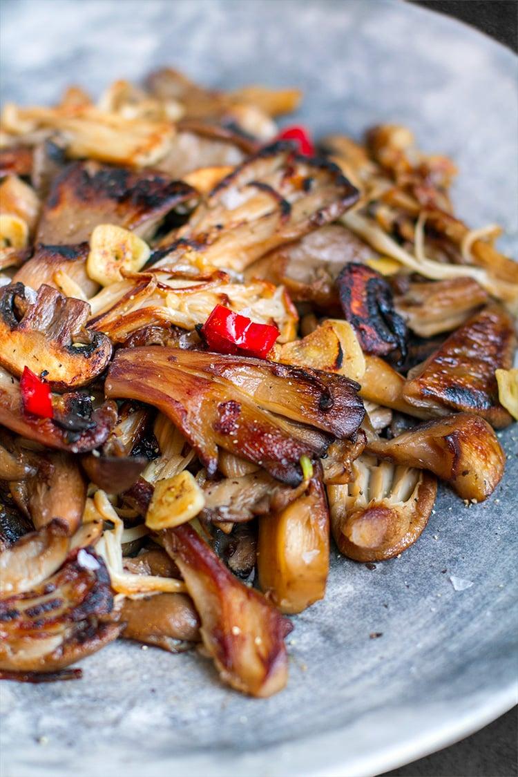 Garlic Chilli Mushrooms Recipe