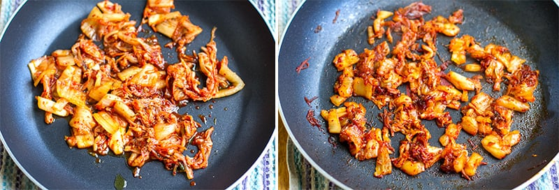 cooking-caramelised-kimchi