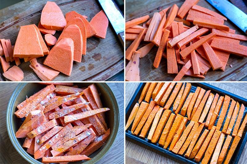 making-sweet-potato-fries