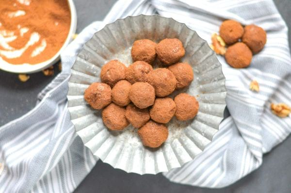 pumpkin spice bliss balls