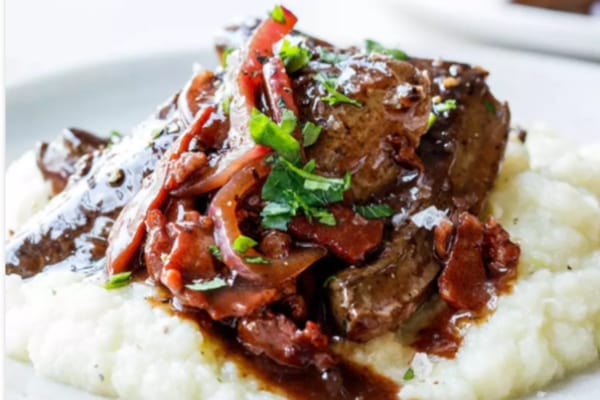 paleo liver with bacon gravy
