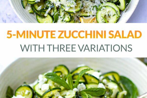 5-Minute Zucchini Salad With Mint & Lemon