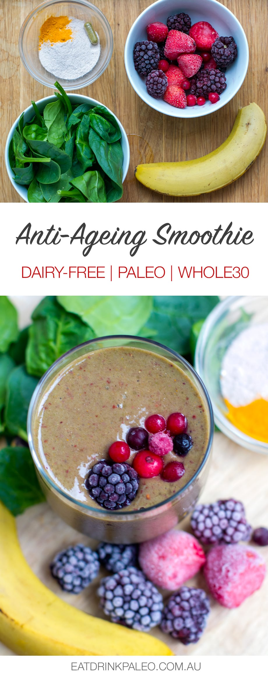 My Anti-Ageing Smoothie (dairy-free, whole30, paleo)