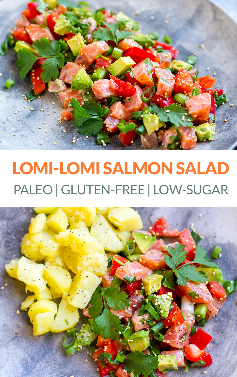 Lomi-Lomi Salmon Salad With Avocado & Peppers