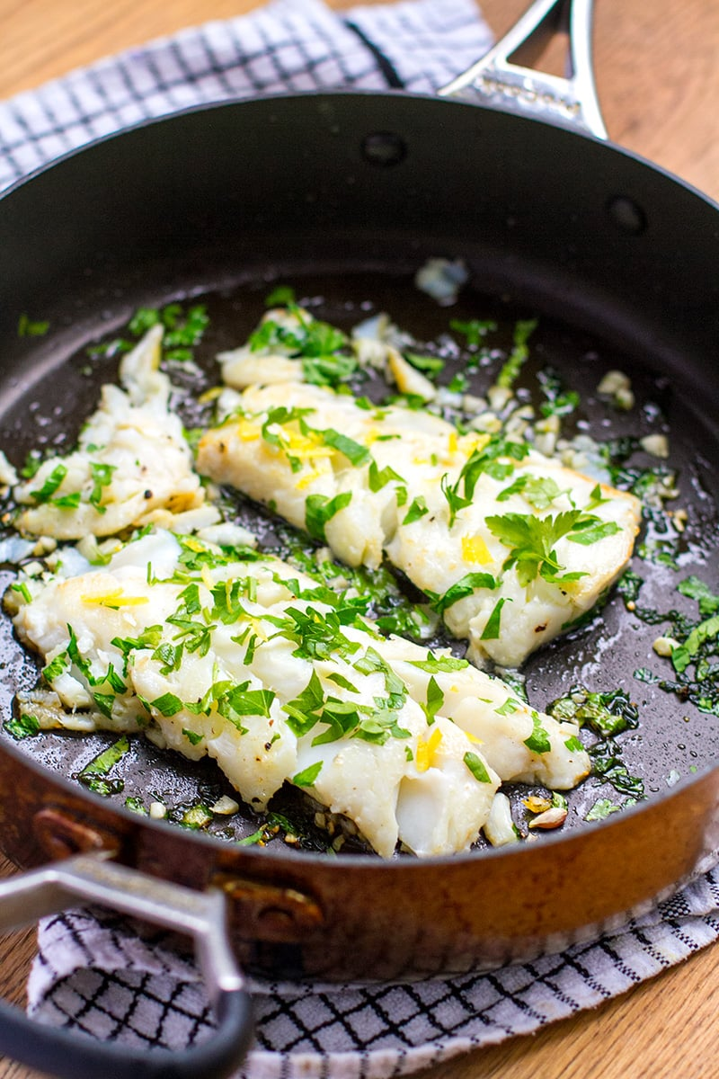 Grilled Cod With Parsley Garlic Paleo Whole30 Keto