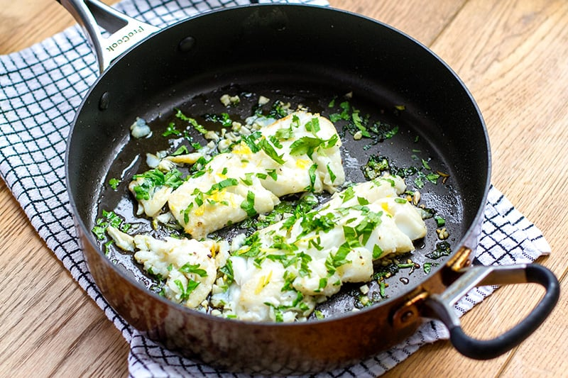 Paleo Cod Recipe With Parsley & Garlic