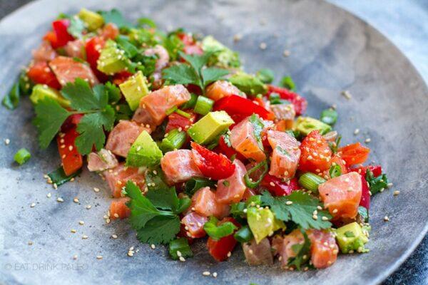 Paleo Lomi Lomi Salmon & Avocado Salad