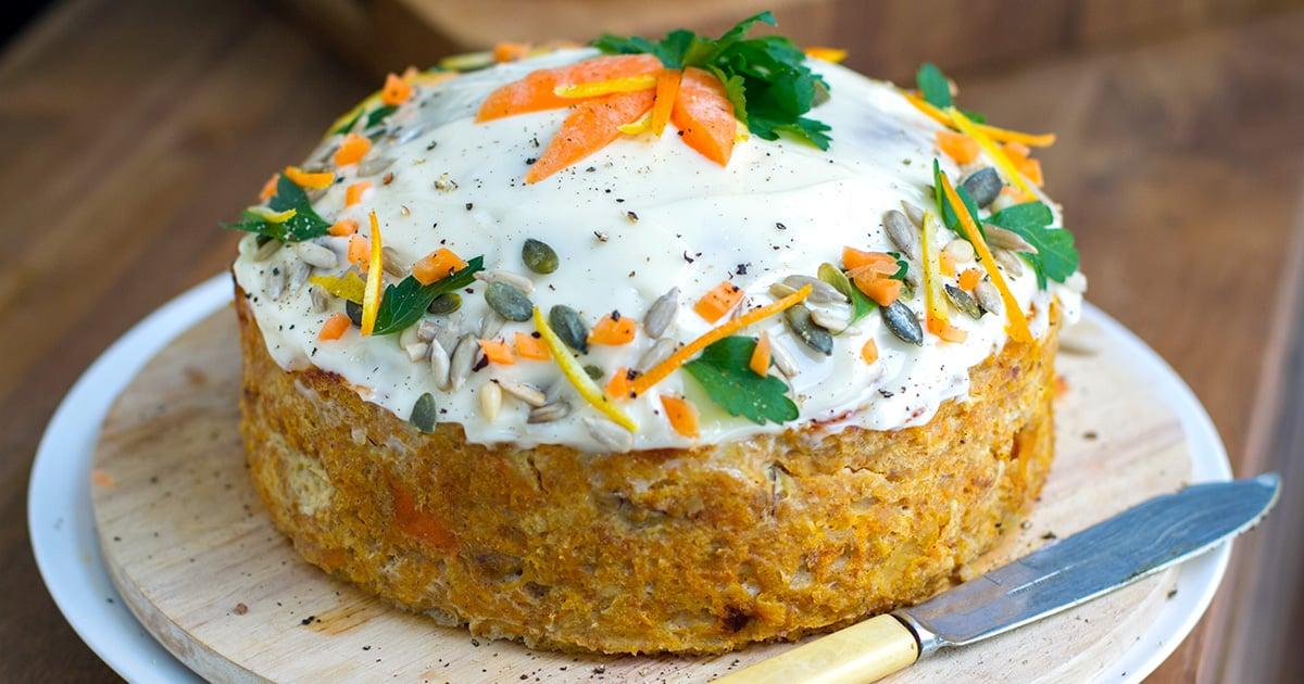 Savoury Turkey Carrot Cake (Paleo, Gluten-free, Whole30)