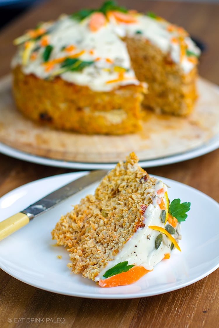 Savoury paleo turkey carrot cake