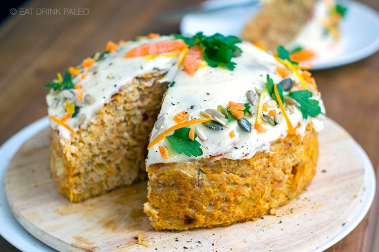 Ground turkey recipes - carrot meatloaf cake