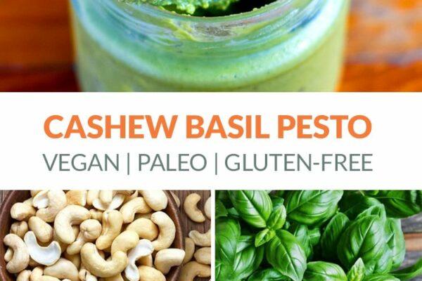 Creamy Paleo Basil Cashew Pesto (Dairy-free, Whole30, Vegan)