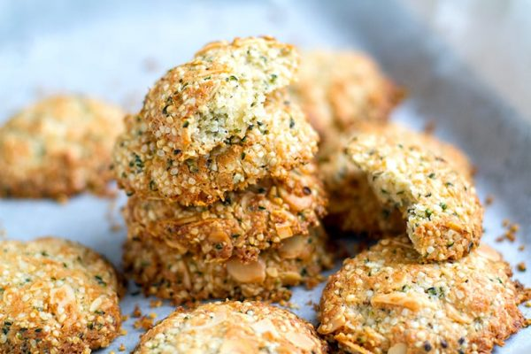 Gluten free anzac biscuits with hemp seeds