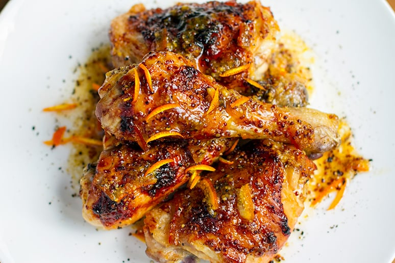Sticky marmalade chicken