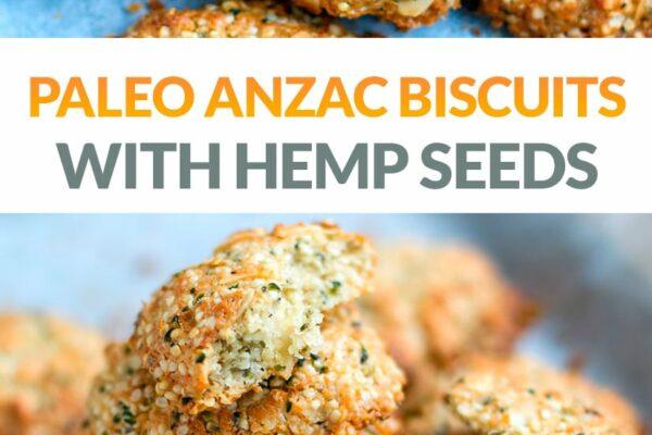 Paleo Anzac Biscuits With Hemp Seeds