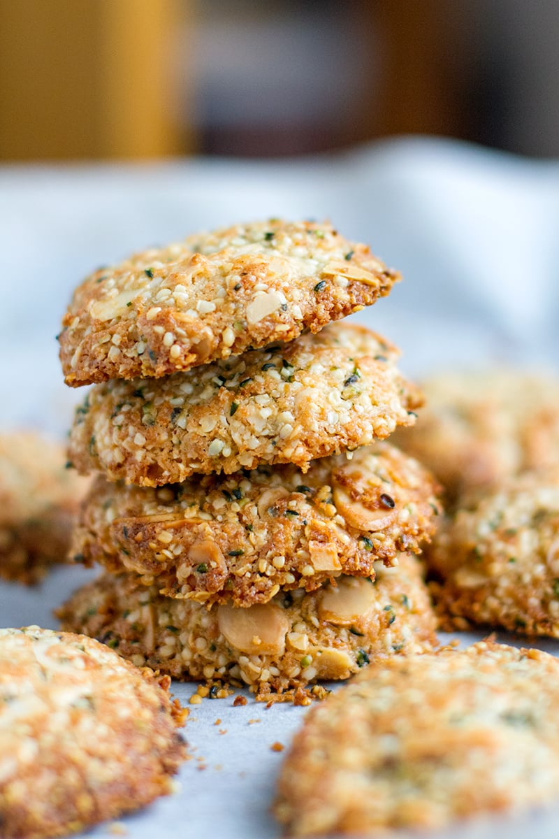 Paleo & Gluten-Free Hemp Seed Anzac Biscuits