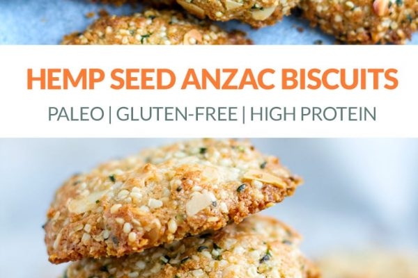 Hemp Seed Anzac Biscuits (Paleo, Gluten-free, Vegan)