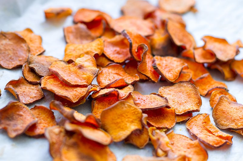 Baked Sweet Potato Chips (Paleo, Gluten-Free, Vegan, Whole30)