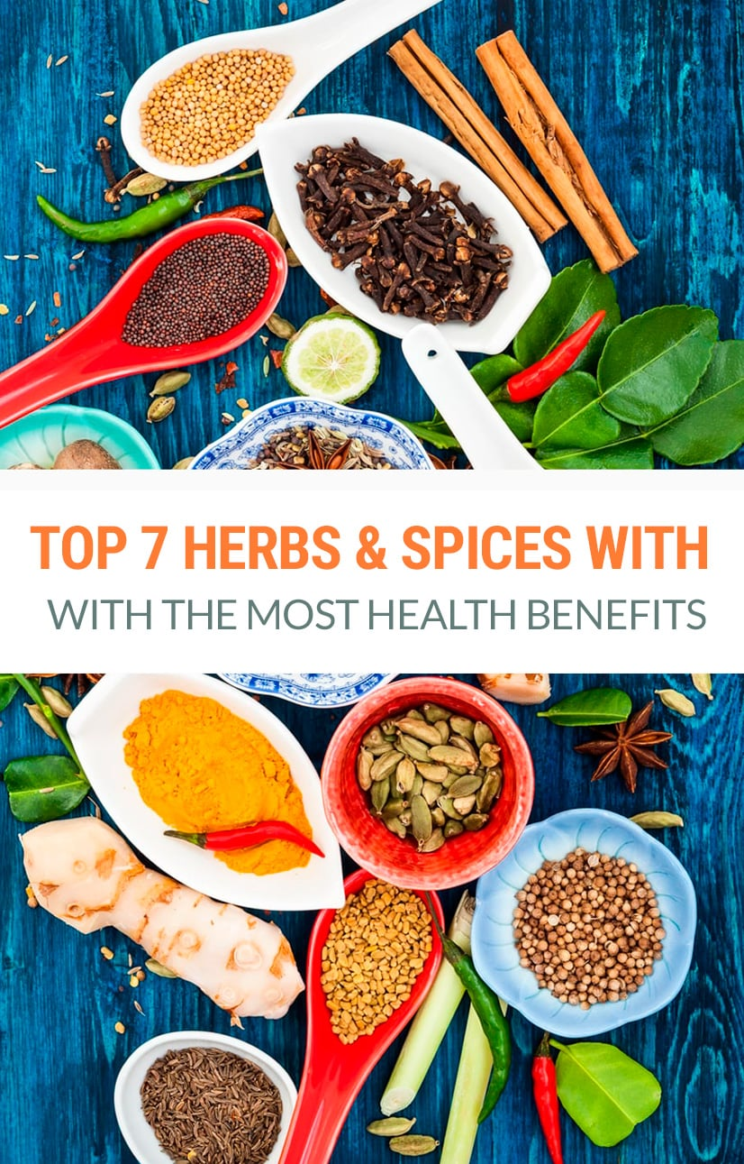 Top 7 Herbs & Spices With The Most Powerful Health Benefits