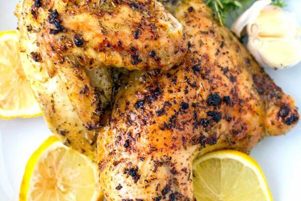 Greek-style Roast Chicken With Lemon, Garlic & Herbs