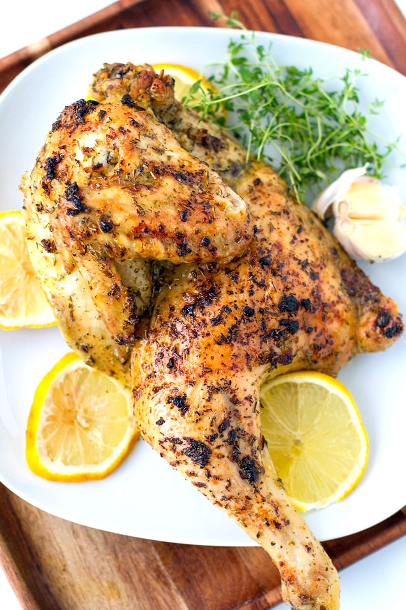 Greek-style Roast Chicken With Lemon, Garlic & Herbs