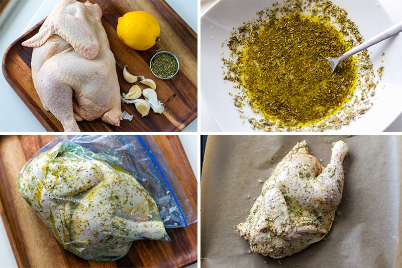 How to roast half a chicken