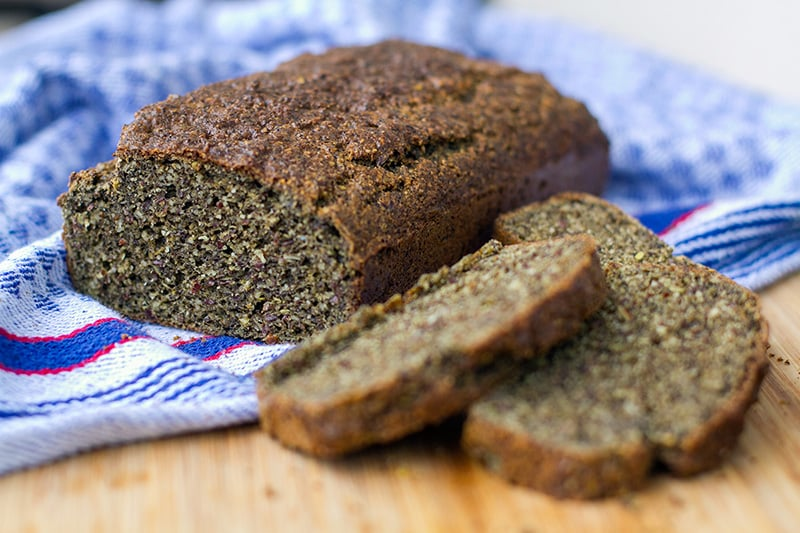 Hemp Flour Bread Recipe (Paleo, Low-Carb, High Protein, High Fibre)