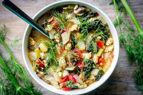 chicken sausage fennel soup