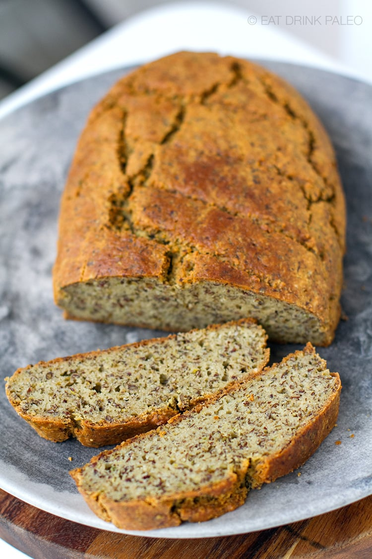 Savoury Rustic Paleo Bread Recipe (no baking tin required)
