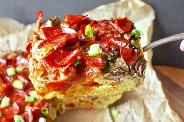 paleo breakfast quiche pizza style