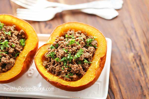 Stuffed pumpkin with beef