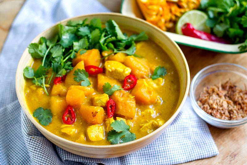 pumpkin chicken curry