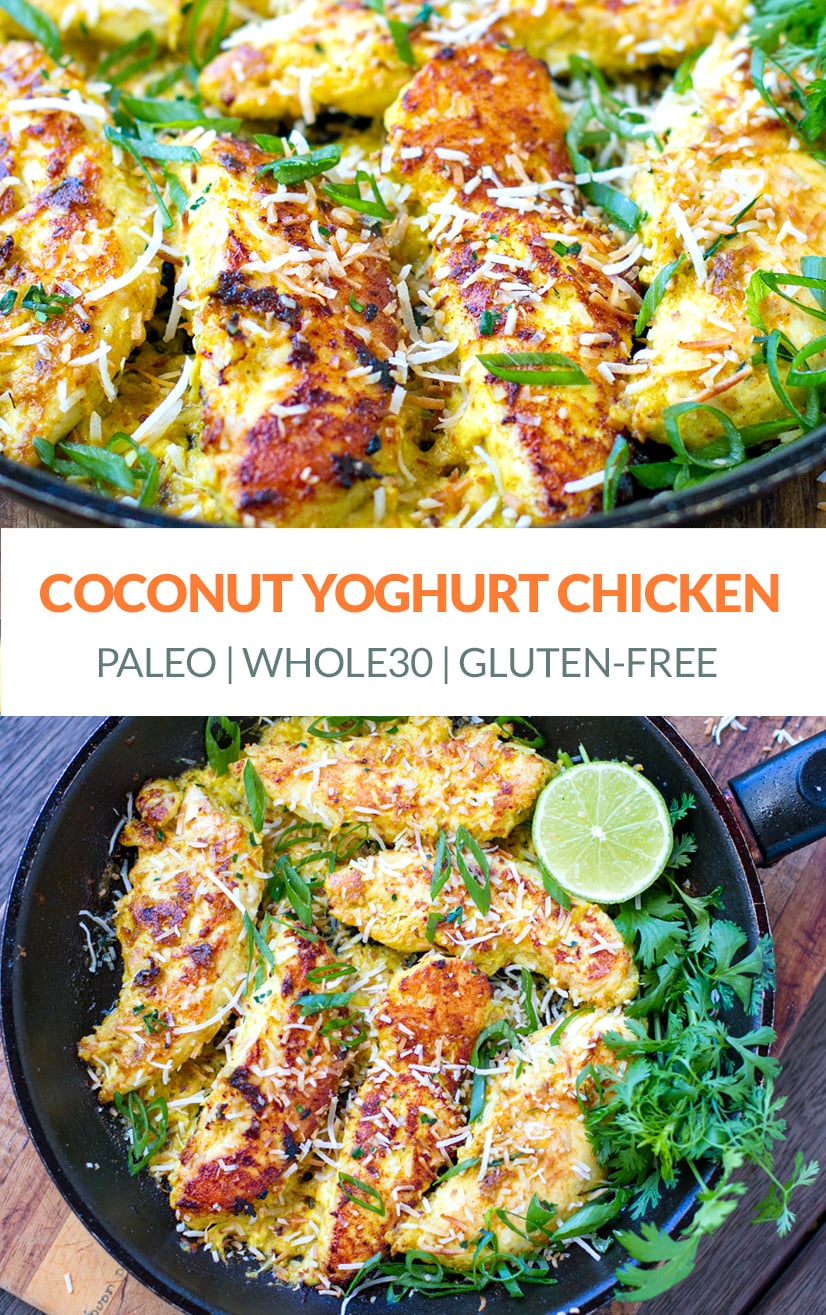 Coconut yogurt marinated chicken
