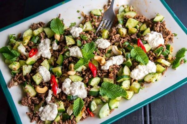 Beef & cucumber salad