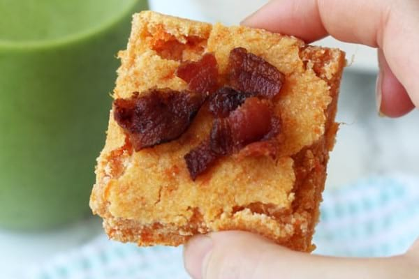Homemade paleo bars - sweet potato bacon bars