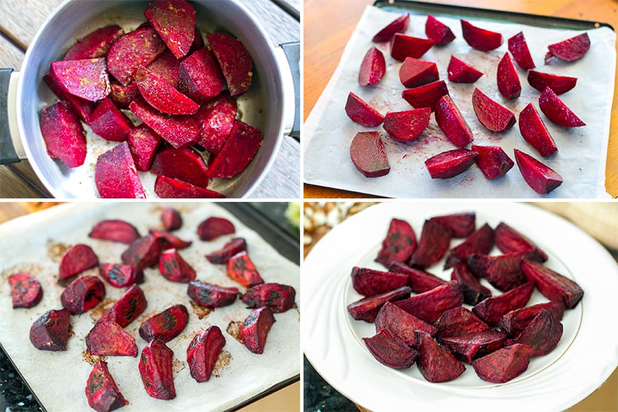 How to roast beets with no foil