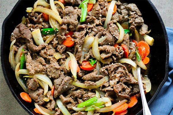 Paleo bulgogi beef recipe