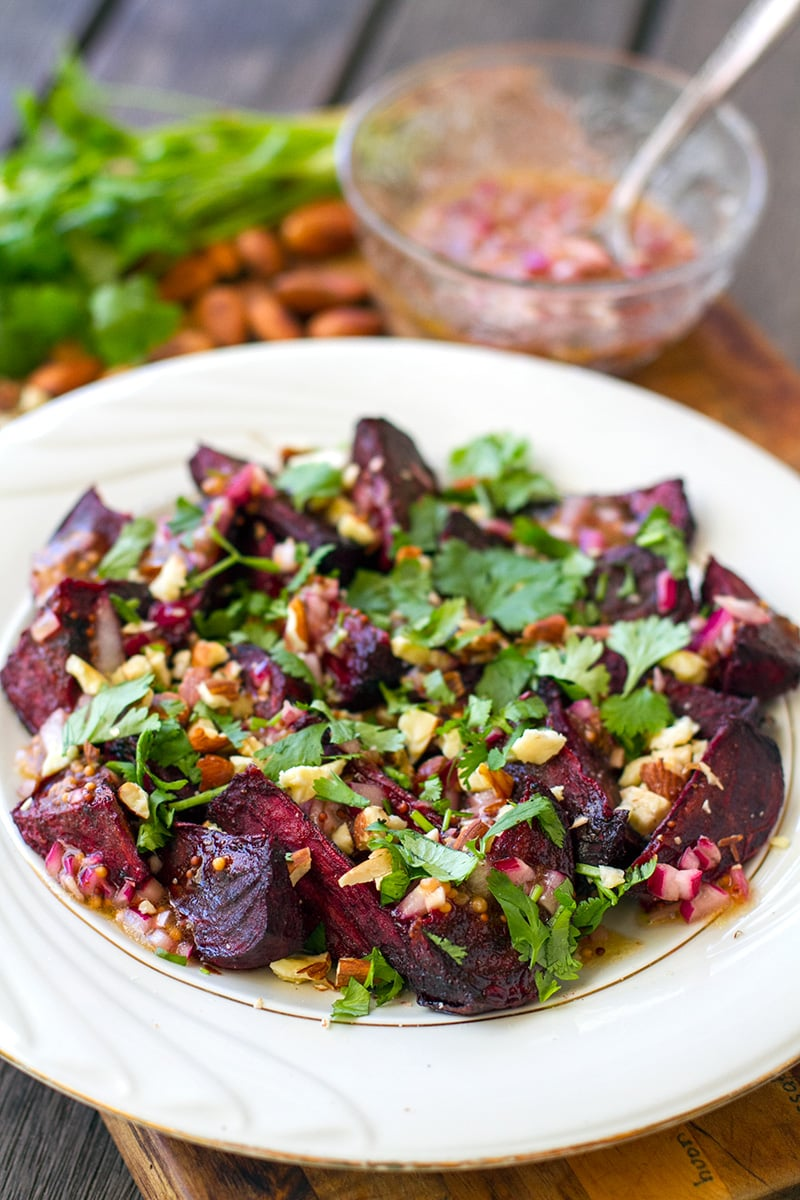 Roasted Beets With Shallot & Mustard Vinaigrette | Paleo, Gluten-free, Vegan
