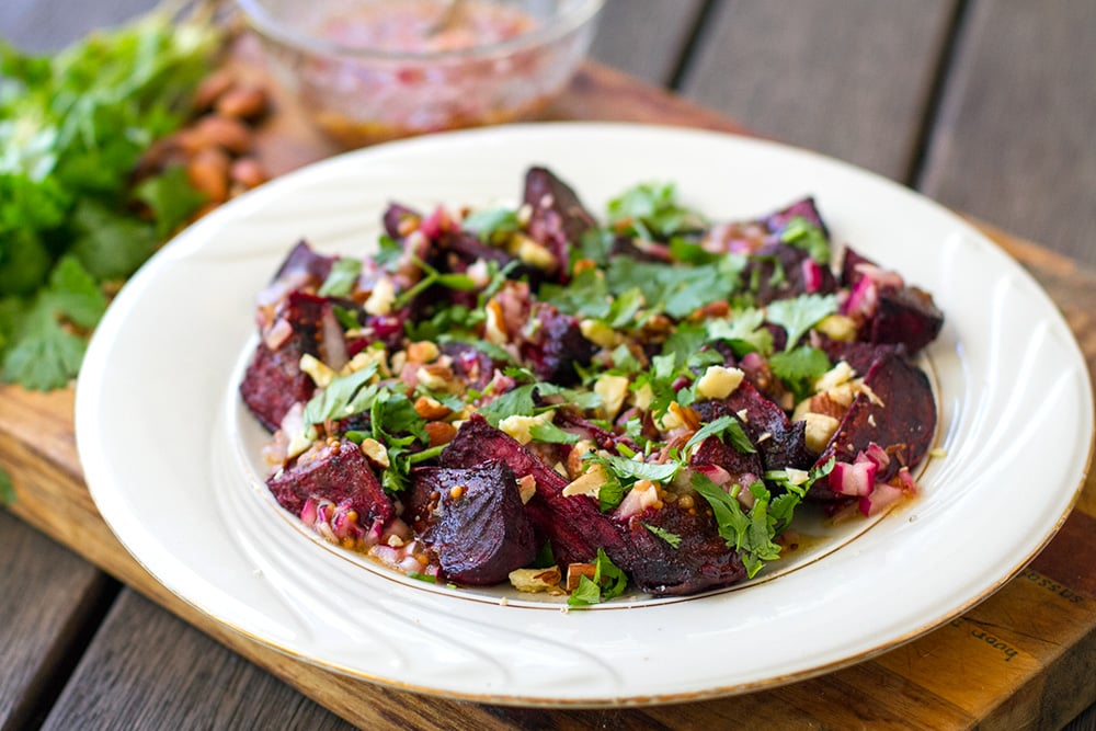 Roasted Beet Salad With Red Wine Vinaigrette