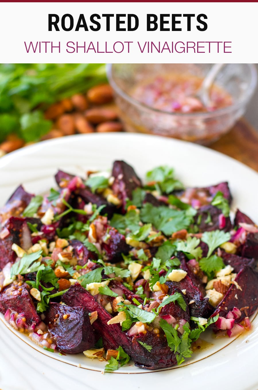 Roasted Beets With Red Wine, Shallot & Mustard Vinaigrette | Paleo, Whole30, Vegan Recipe