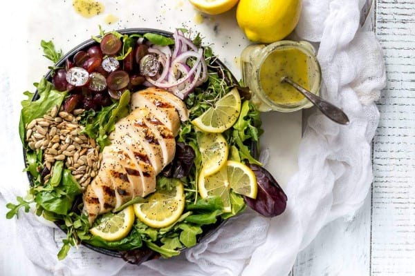 Lemon poppyseed salad dressing sugar-free