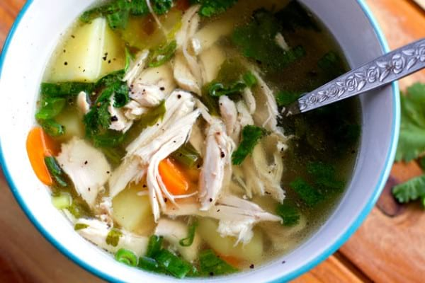 Paleo Freezer Meals: Chicken Soup
