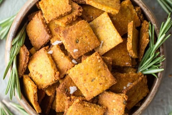Paleo sweet potato crackers